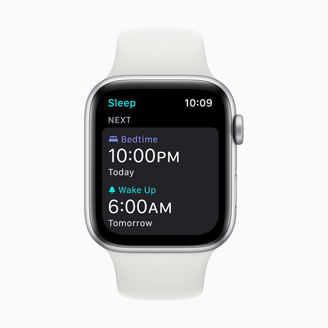 A wake-up alarm displayed on Apple Watch Series 5.