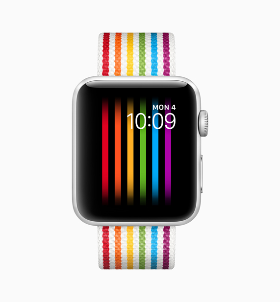 Apple Watch with a new rainbow pride band
