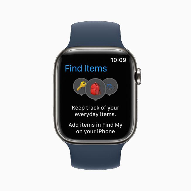 La nuova app Trova Oggetti aiuta a localizzare gli oggetti a cui è agganciato un AirTag o oggetti compatibili di terze parti tramite la rete Dov'è.