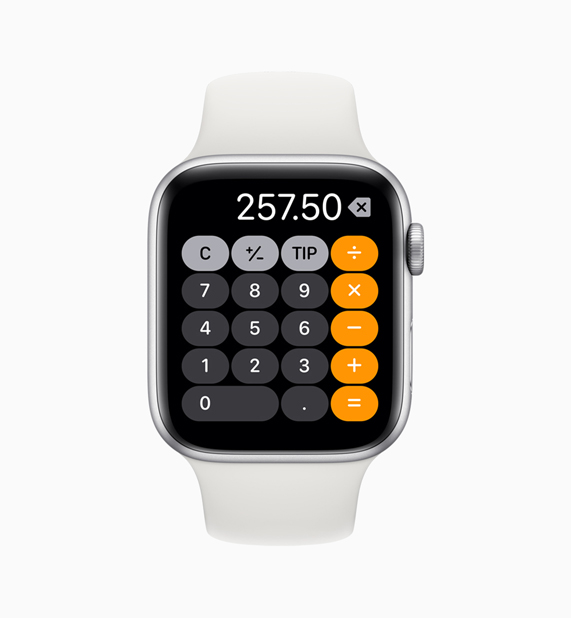 App Calculadora en el Apple Watch.