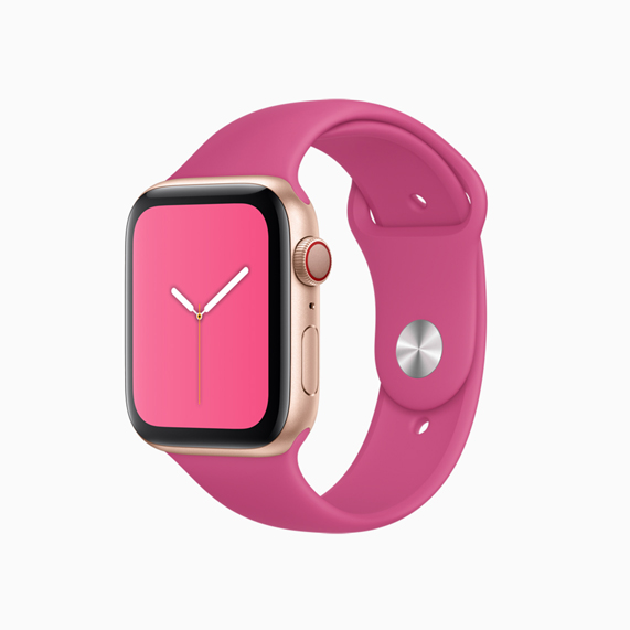 Apple Watch sports band in Dragon Fruit.