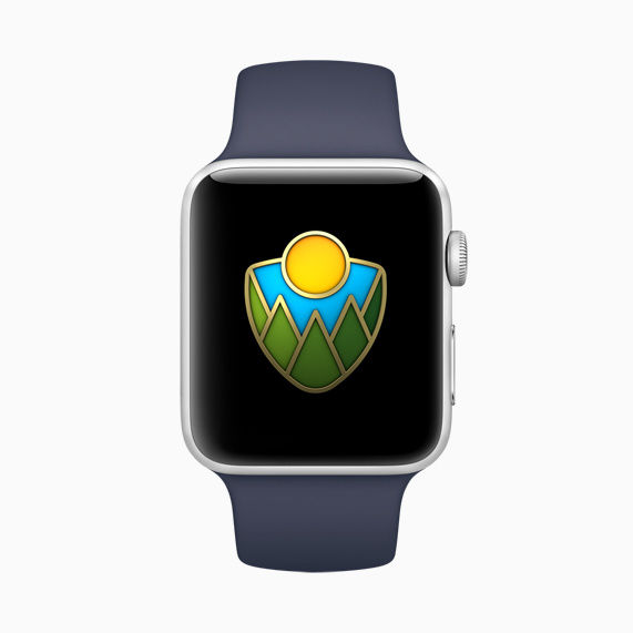 Apple Watch with National Park award.