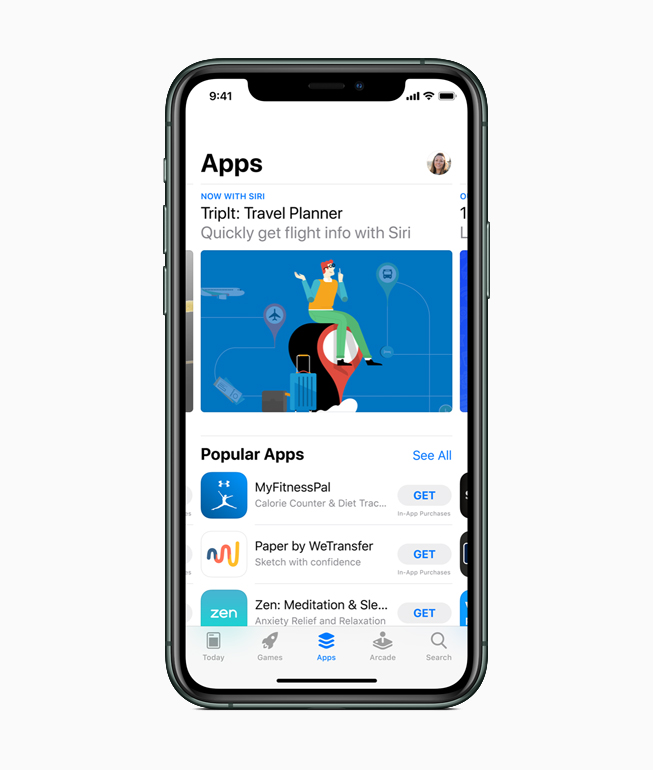 iPhone mostrando el App Store.