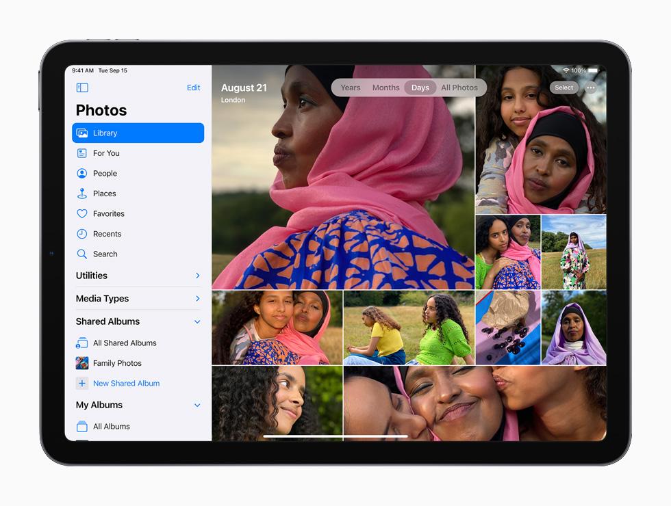 iCloud Fotos auf einem iPad.