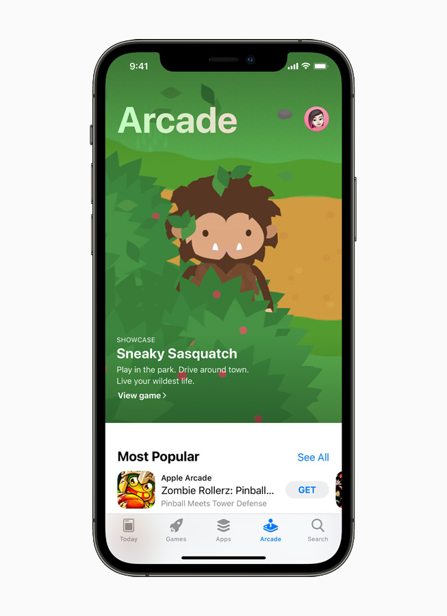 Apple Arcade en el iPhone 12.