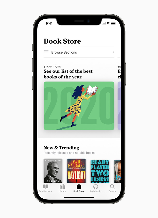 Apple Books en el iPhone 12.