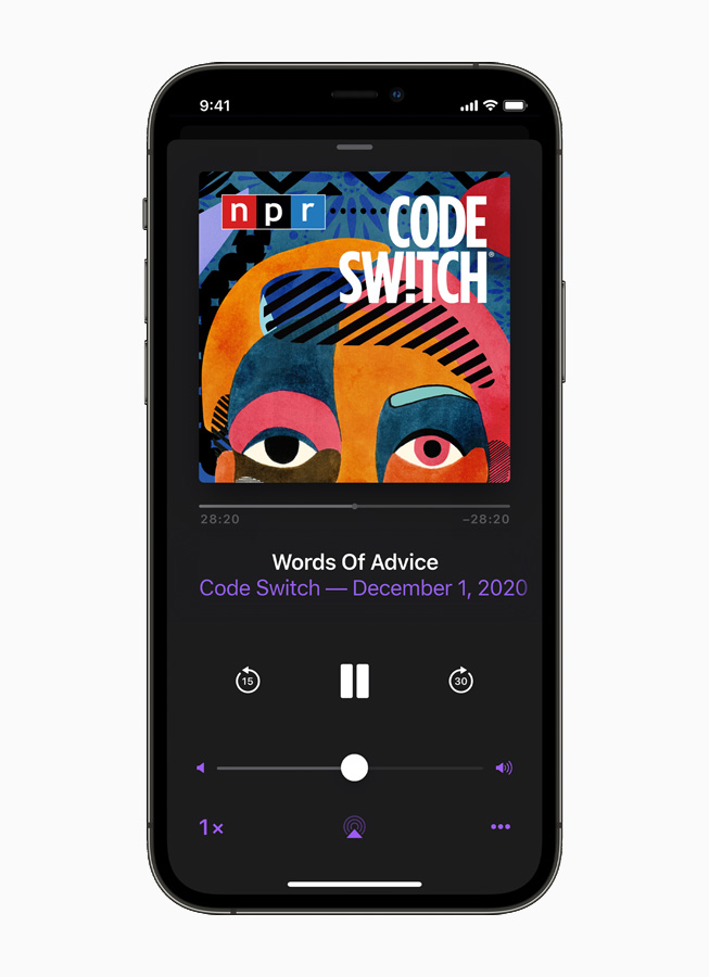 Apple Podcasts on iPhone.