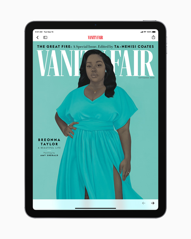 iPad with an issue from Vanity Fair.