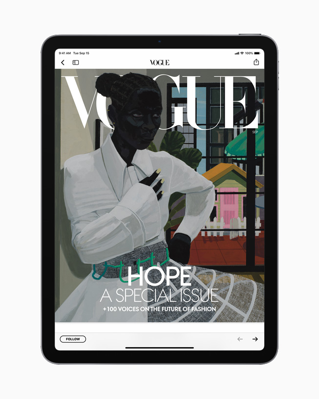 iPad with an issue from Vogue.