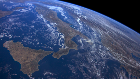 An image of Italy demonstrating the new Apple TV ISS screensavers