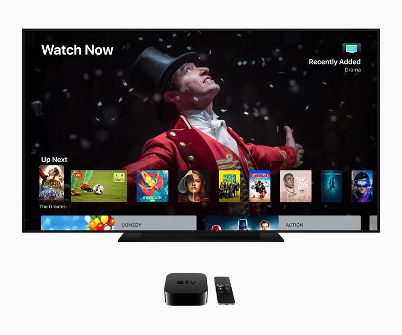 Apple TV 4K liefert mit tvOS 12 ein Kinoerlebnis höchster Qualität