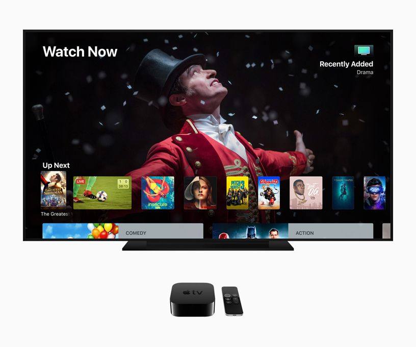 Picture of the Watch Now App on Apple TV