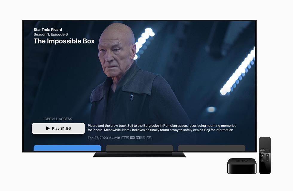 CBS All Access screen on Apple TV.