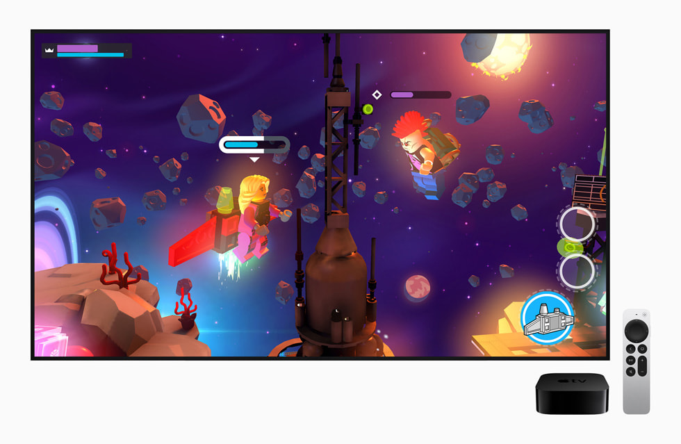 Apple Arcade displayed on Apple TV.