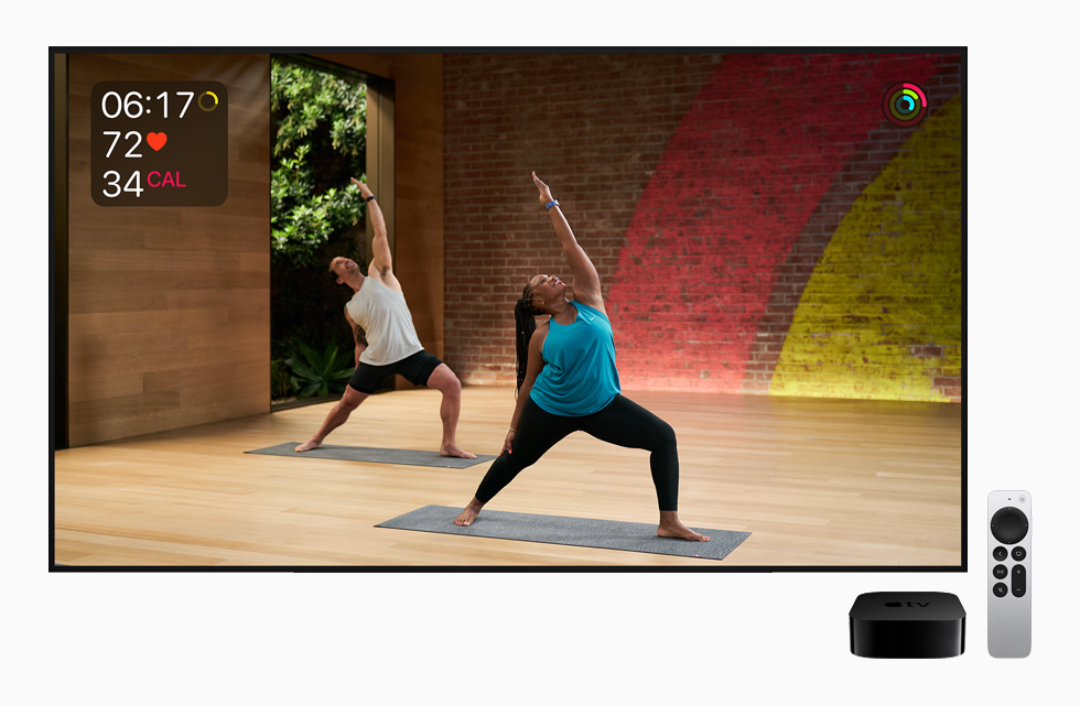 Apple Fitness+ displayed on Apple TV.
