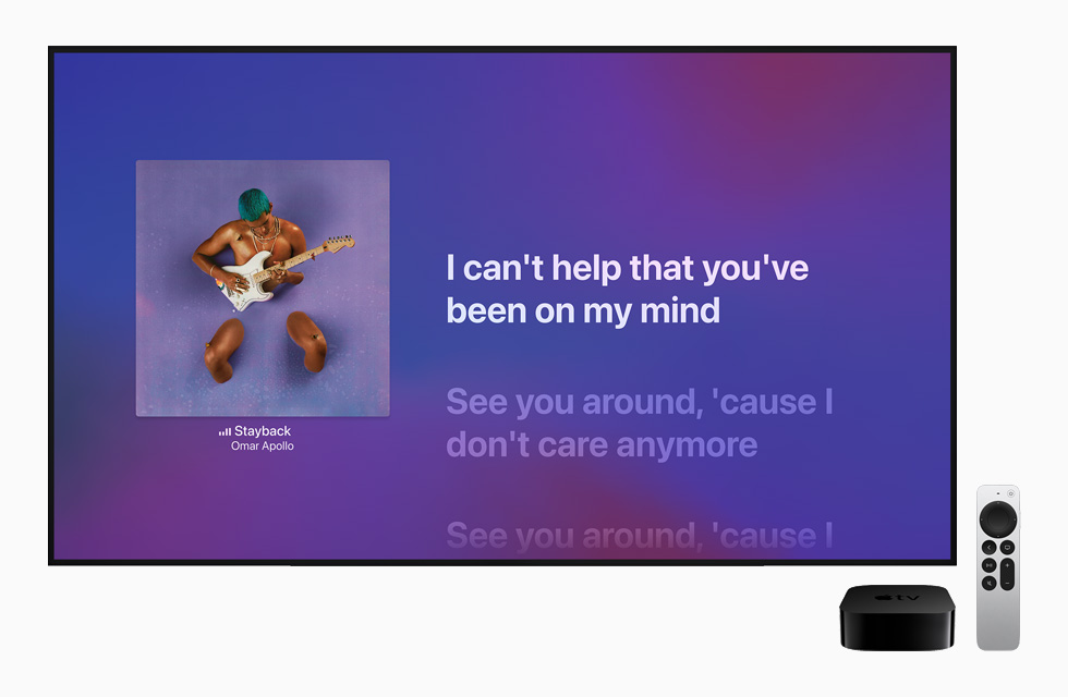 Apple Music displayed on Apple TV.