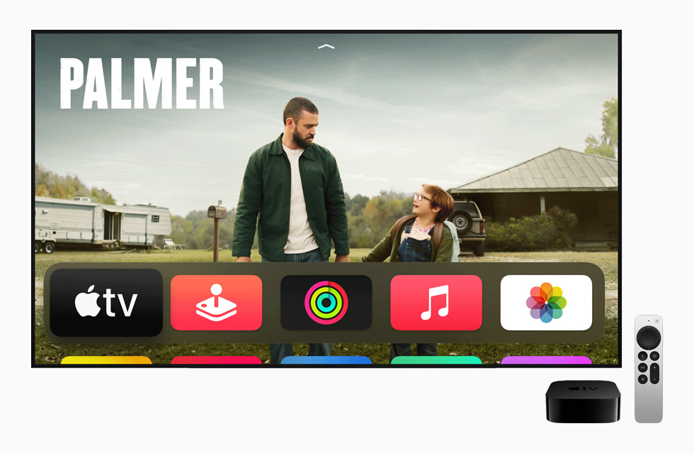 Apple TV home screen.