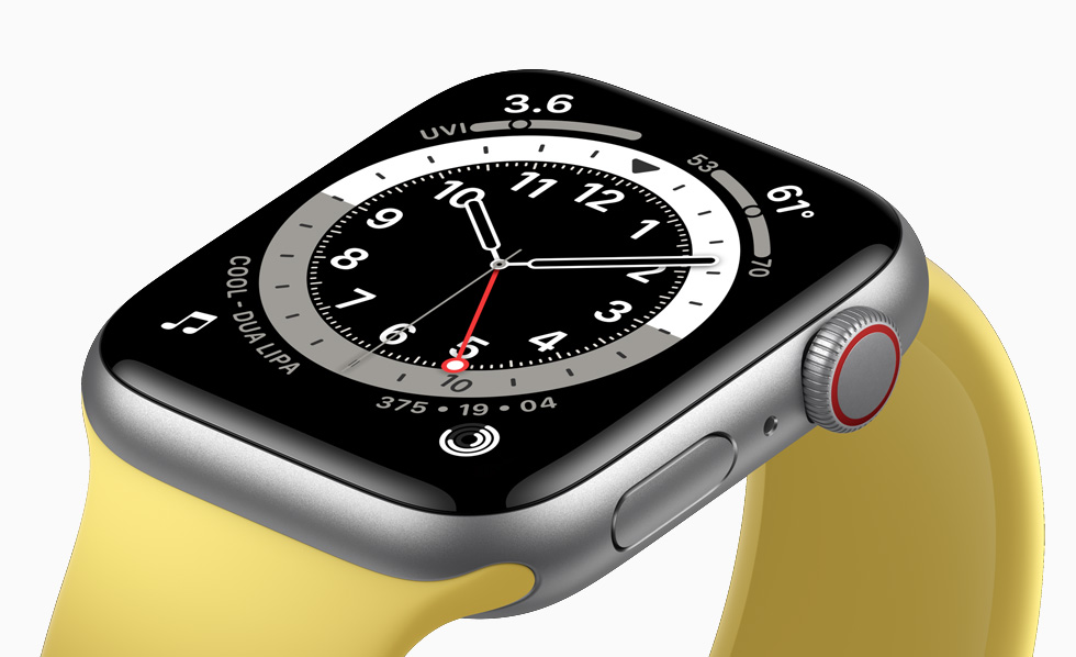 Retina-skærm på Apple Watch SE.