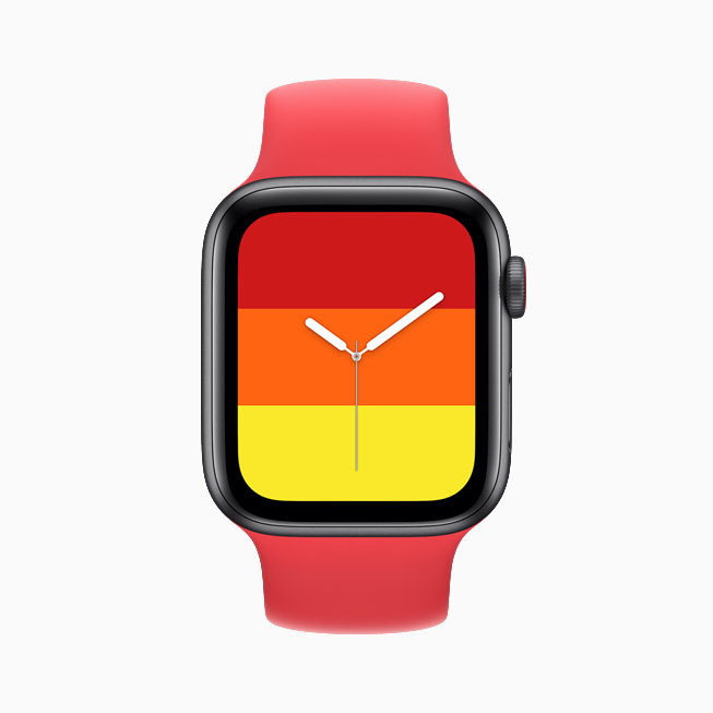 Striber-urskiven vist på Apple Watch SE.