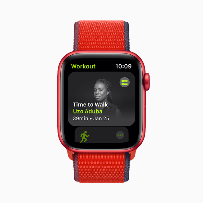 Uzo Aduba displayed on Apple Watch.