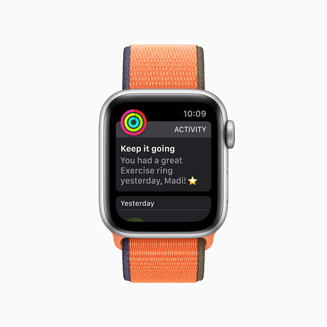 Påmindelse om aktivitetscirkler på Apple Watch.