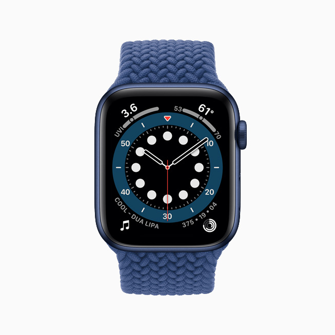 La cadran Countup affiché sur l'Apple Watch Series 6.