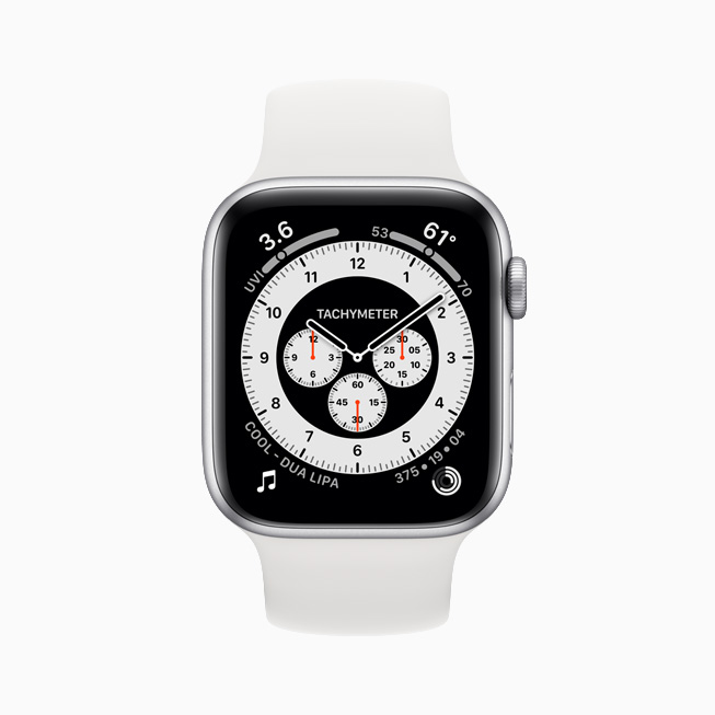La cadran Chronograph Pro affiché sur l'Apple Watch Series 6.