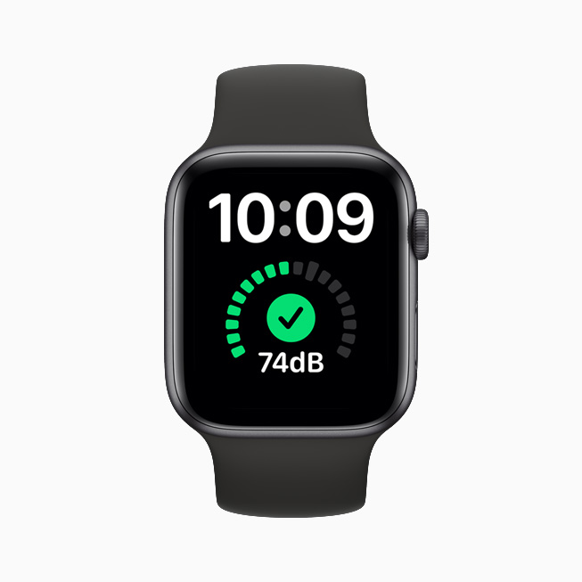 Støjregistrering på Apple Watch.