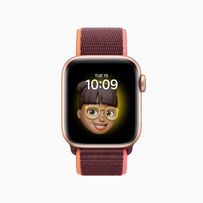 The new Memoji watch face in watchOS 7.