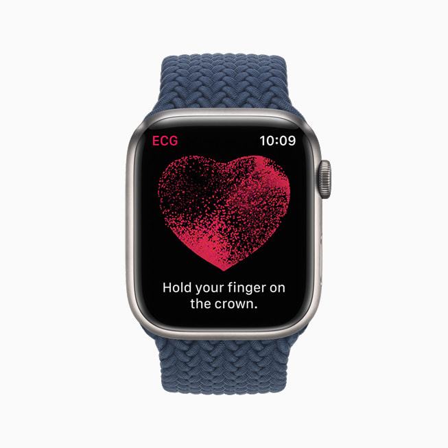 The electrical heart sensor app is shown on Apple Watch Series 7.