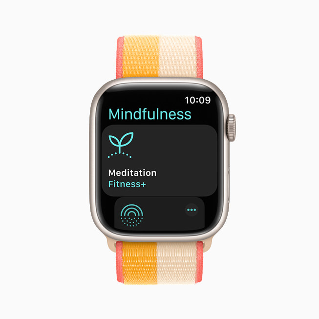 The Mindfulness app is shown on Apple Watch Series 7.