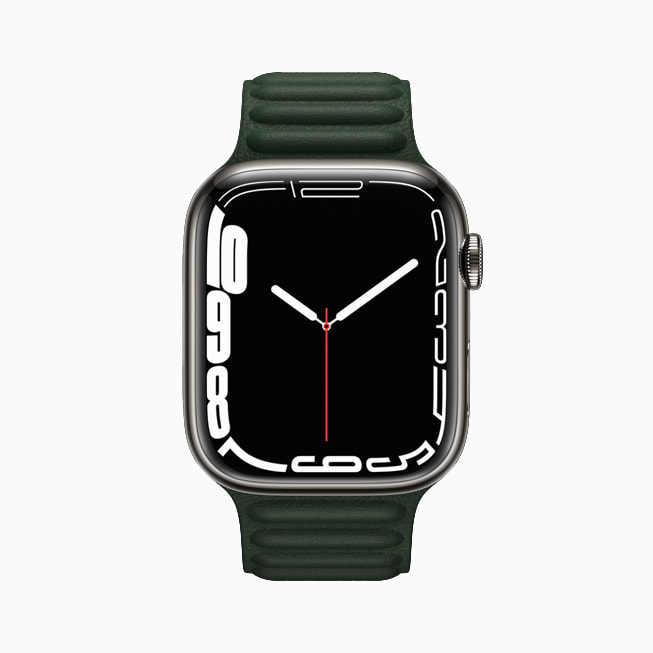 Apple Watch Series 7 is shown with the new Countour face.