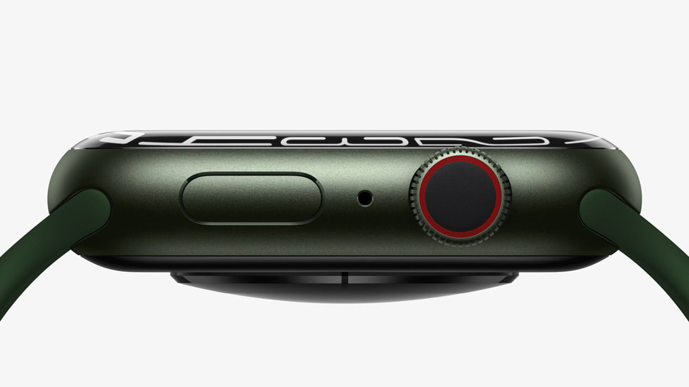 A side view of Apple Watch Series 7's case.
