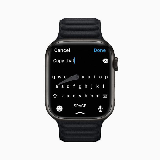 Apple Watch Series 7 new keyboard.
