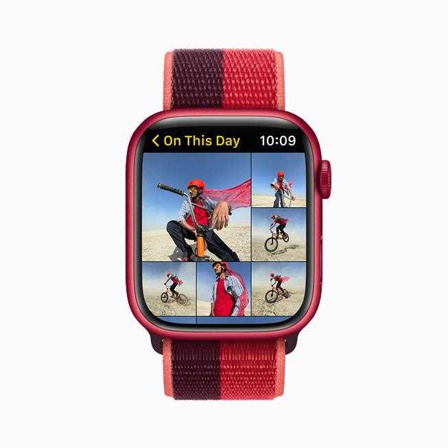 The Photos app on Apple Watch Series 7.