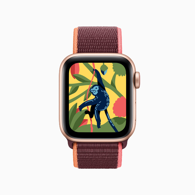 La app para niños Coloring Watch en el Apple Watch.
