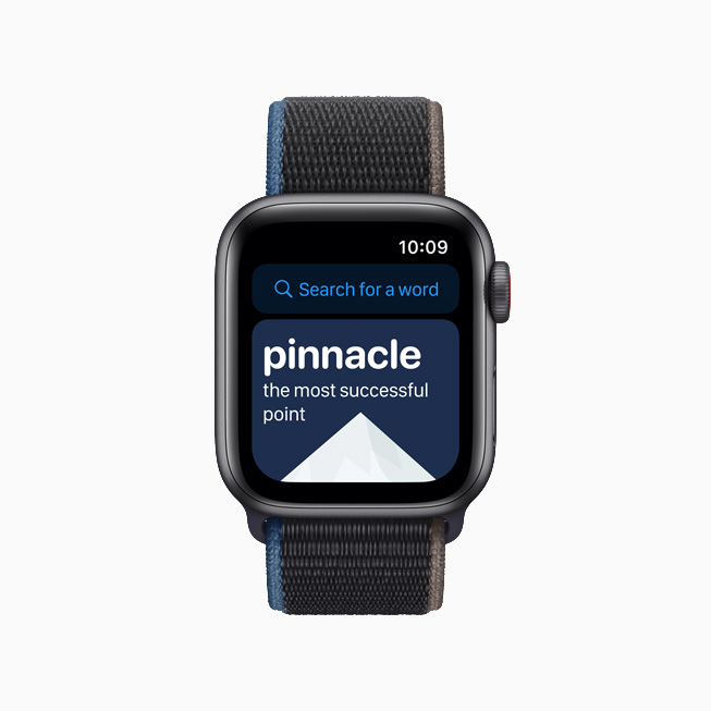 La app para niños LookUp: English Dictionary en el Apple Watch.