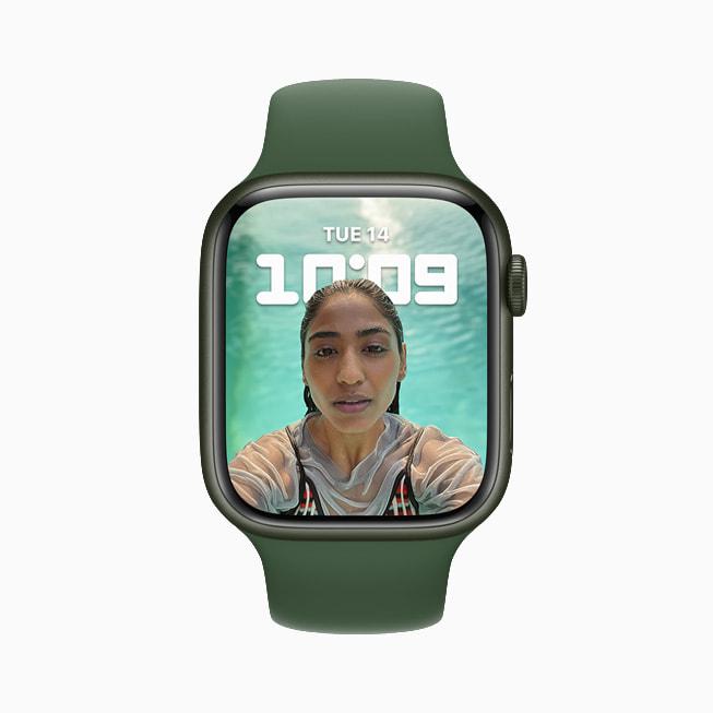 Il nuovo quadrante Ritratti di Apple Watch Series 7.