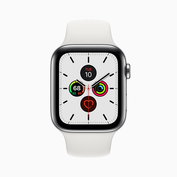 The new Meridian face on Apple Watch Series 5.