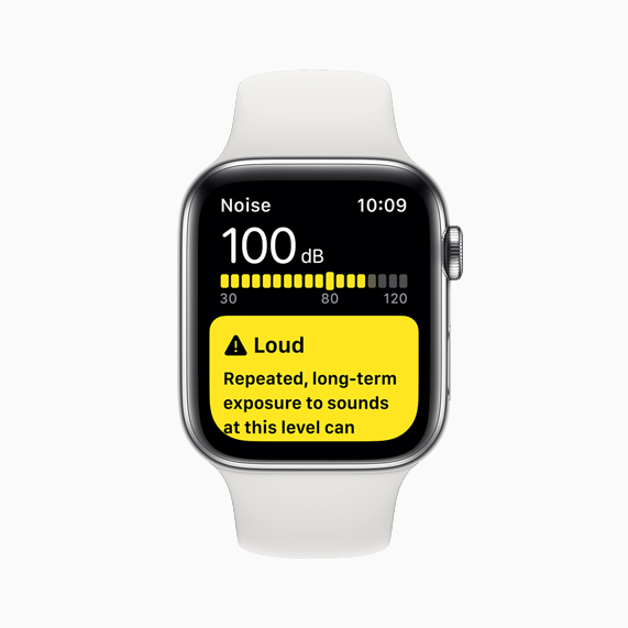 The Noise app displayed on Apple Watch Series 5.