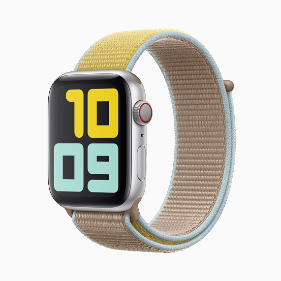 The camel sport loop on Apple Watch Series 5.