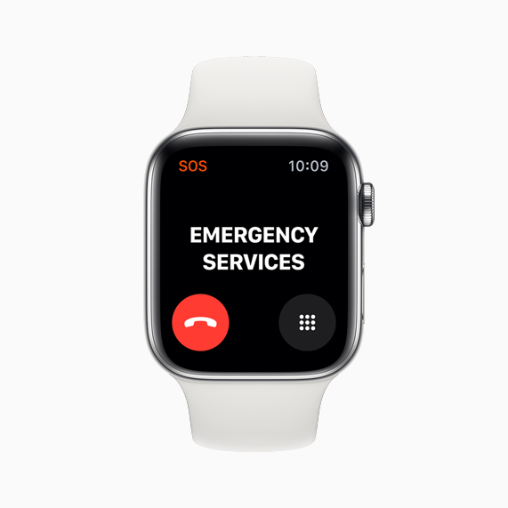 Das neue Feature für internationale Notrufe auf der Apple Watch Series 5.