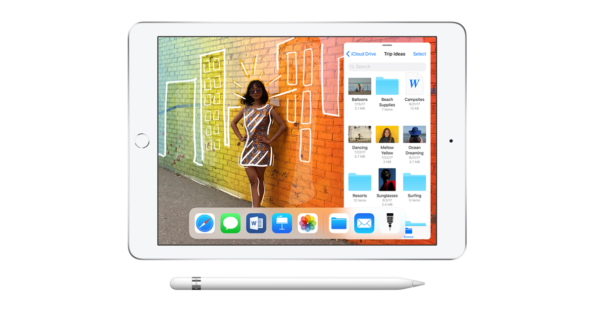 Apple Introduces New 9 7 Inch Ipad With Apple Pencil Support Apple