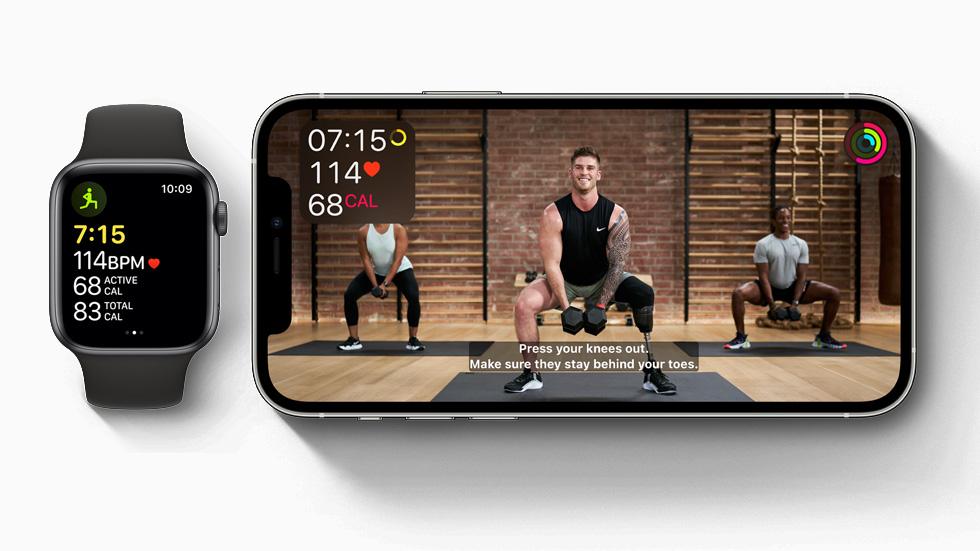 Fitness+ sur un iPhone12Pro.