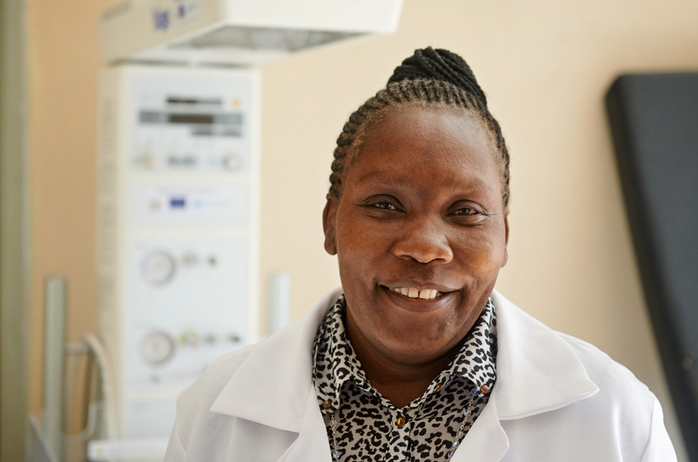 Prosperina Mwanza of Mwembeshi Rural Health Centre in Zambia.