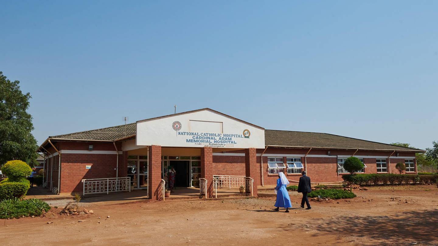 Cardinal Adam Memorial Hospital in Lusaka, Sambia.