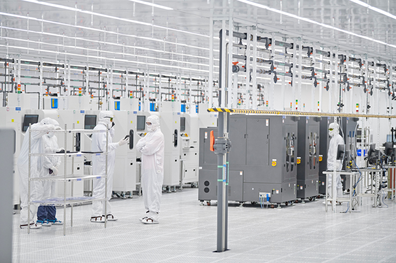 The production floor at Finisar.