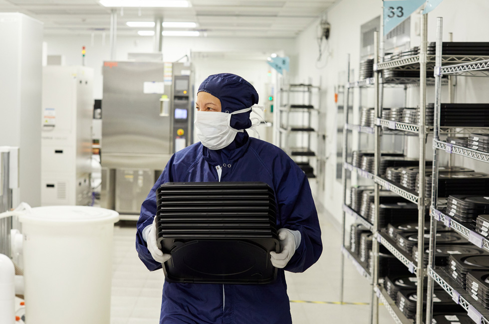 An employee at II-IV.
