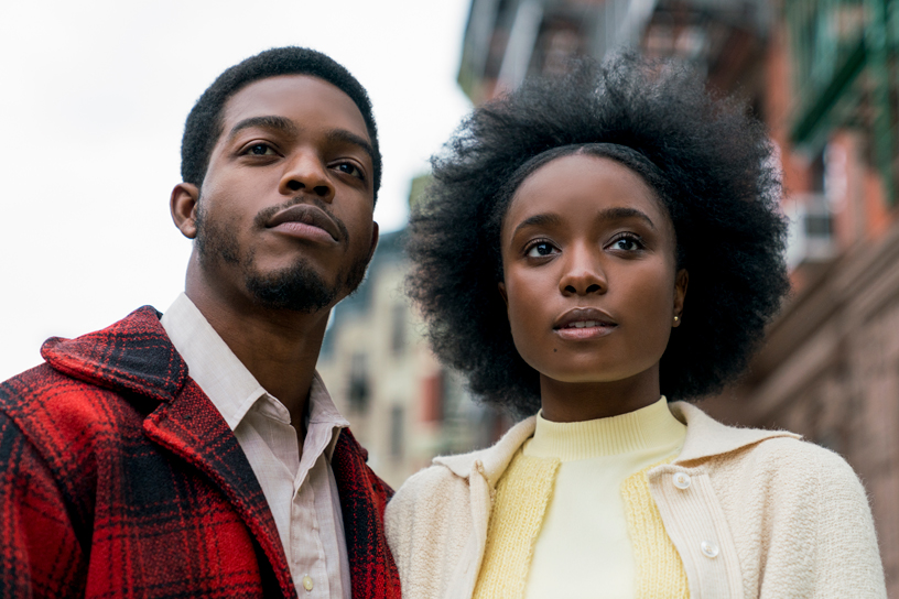 "Skuespillerne Stephan James og KiKi Layne i ""If Beale Street Could Talk""."