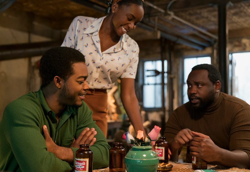 "Skuespillerne Stephan James, KiKi Layne og Brian Tyree Henry i ""If Beale Street Could Talk""."
